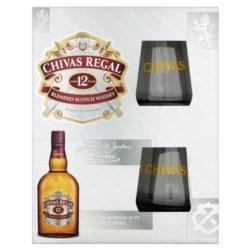 CHIVAS REGAL 12YO 0,70L 40% ZESTAW ZE SZKLANKAMI