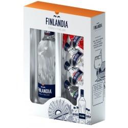 FINLANDIA VODKA 0.5L 40% + 4 x MINIATURKA 37.5%