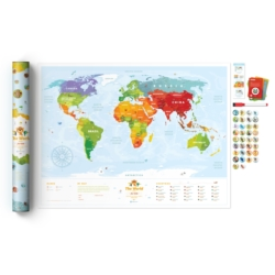 Travel Map Kids Animals
