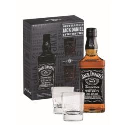 JACK DANIEL'S WHISKEY 0.7 L 40%+ szklanki