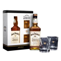 Jack Daniel's Tennessee Honey 0,7L z dwoma szklankami