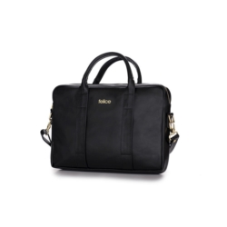Damska skórzana torba na laptopa Dulce czarna