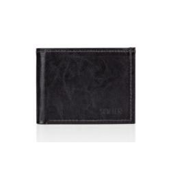 Elegancki brązowy skórzany męski portfel SOLIER SW06